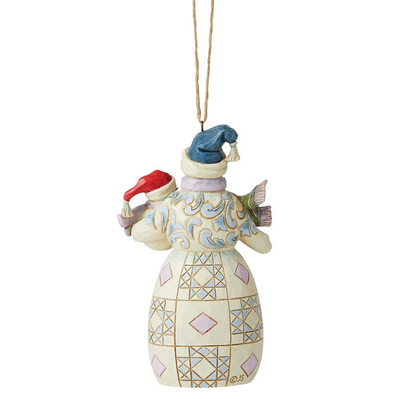 Snowman with Baby Hanging Ornament - Heartwood Creek by Jim Shore