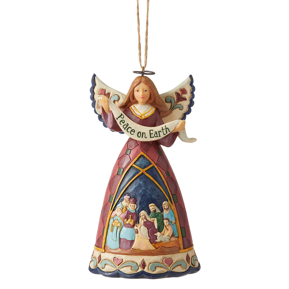 Nativity Peace Angel Hanging Ornament