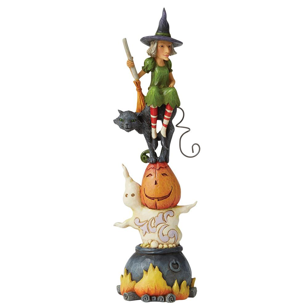 Recipe For Fright - Stacked Haloween Figurine - Heartwood Creek by jim Shore