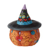 Day of the Dead - Jack-o-Lantern with Witch Hat Figurine - Heartwood Creek by Jim Shore