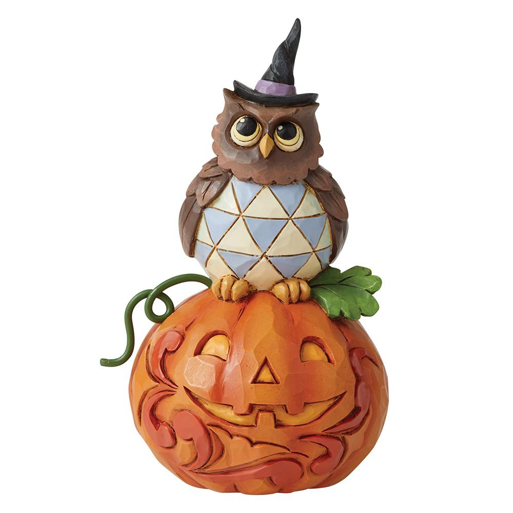 Jack-o-Lantern and Owl Mini Figurine - Heartwood Creek by Jim Shore