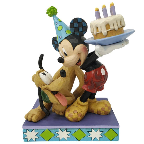 Happy Birthday Pal (Pluto and Mickey Mouse Figurine) - Disney Traditionsby Jim Shore