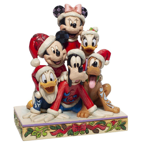 Piled High with Holiday Cheer - Stacked Mickey and friends Figiurine - Disney Traditions by Jim Shore