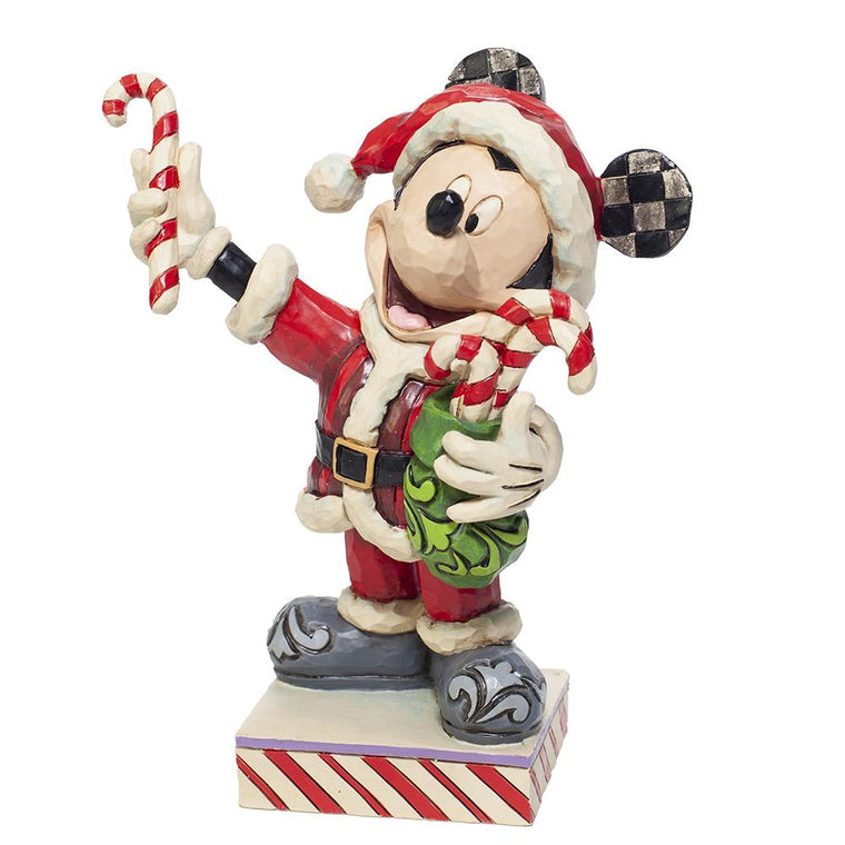 Disney Traditions by Jim Shore Peppermint Suprise (Mickey Mouse with Candy Canes Figurine)