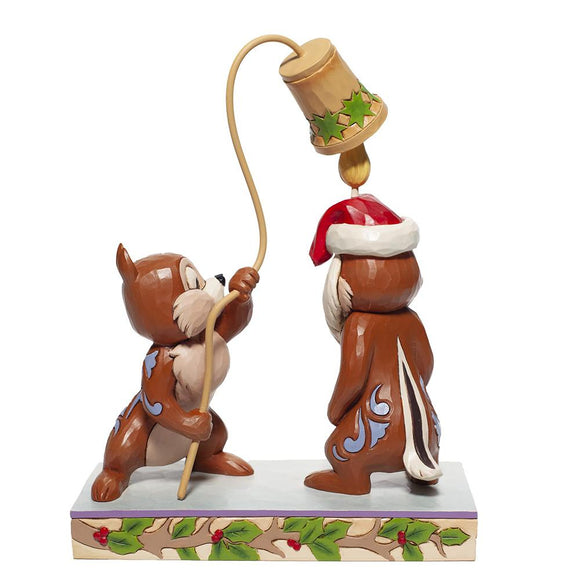 Christmas Chip 'n Dale Figurine - Disney Traditions by Jim Shore