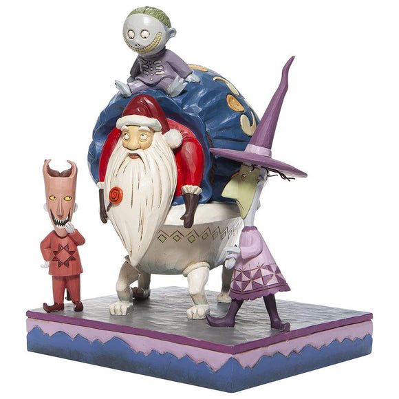 Lock, Shock and Barrel with Santa Figurine - Disney Traditions by Jim Shore