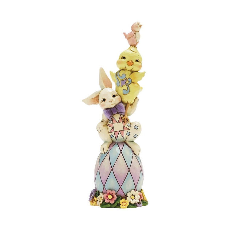 Egg-stra Dose of Cute -Easter Stacked Pint Sized Figurine- Heartwood Creek by Jim Shore