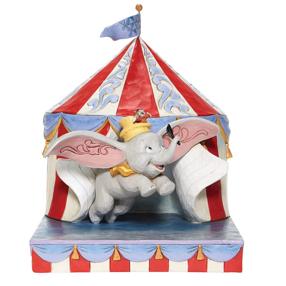 Over the Big Top - Dumbo Circus out of Tent Figurine - Disney Traditions by Jim Shore