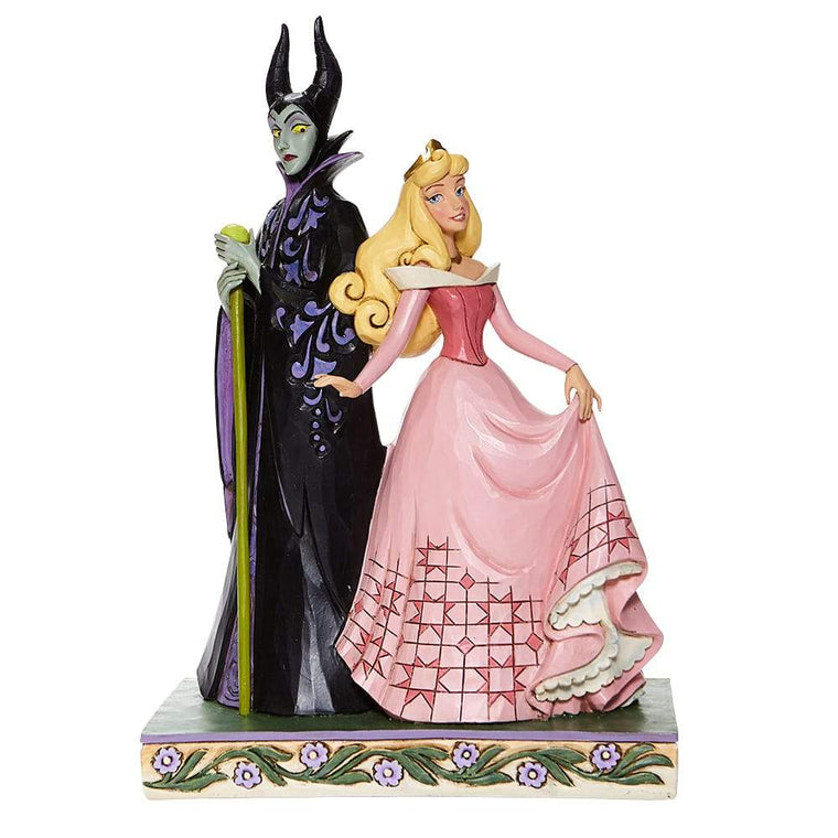Sorcery and Serenity -Aurora and Maleficent Figurine- Disney Traditions by Jim Shore