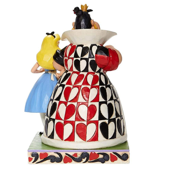 Chaos and Curiousity-Alice and the Queen of Hearts Figurine -Disney Traditions by Jim Shore