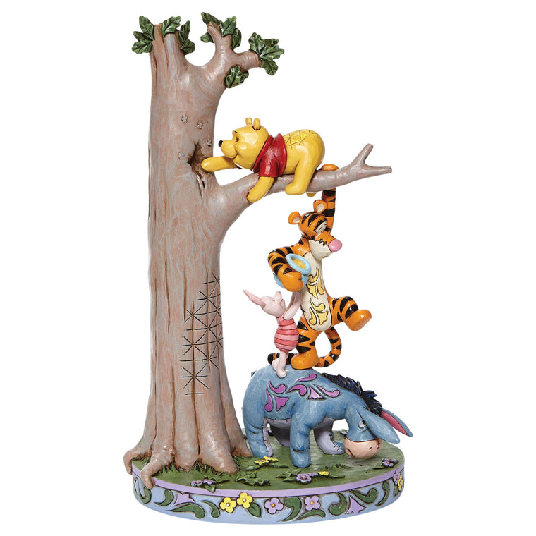 Hundred Acre Caper - Tree with Pooh and Friends Figurine - Disney Traditionsby Shore