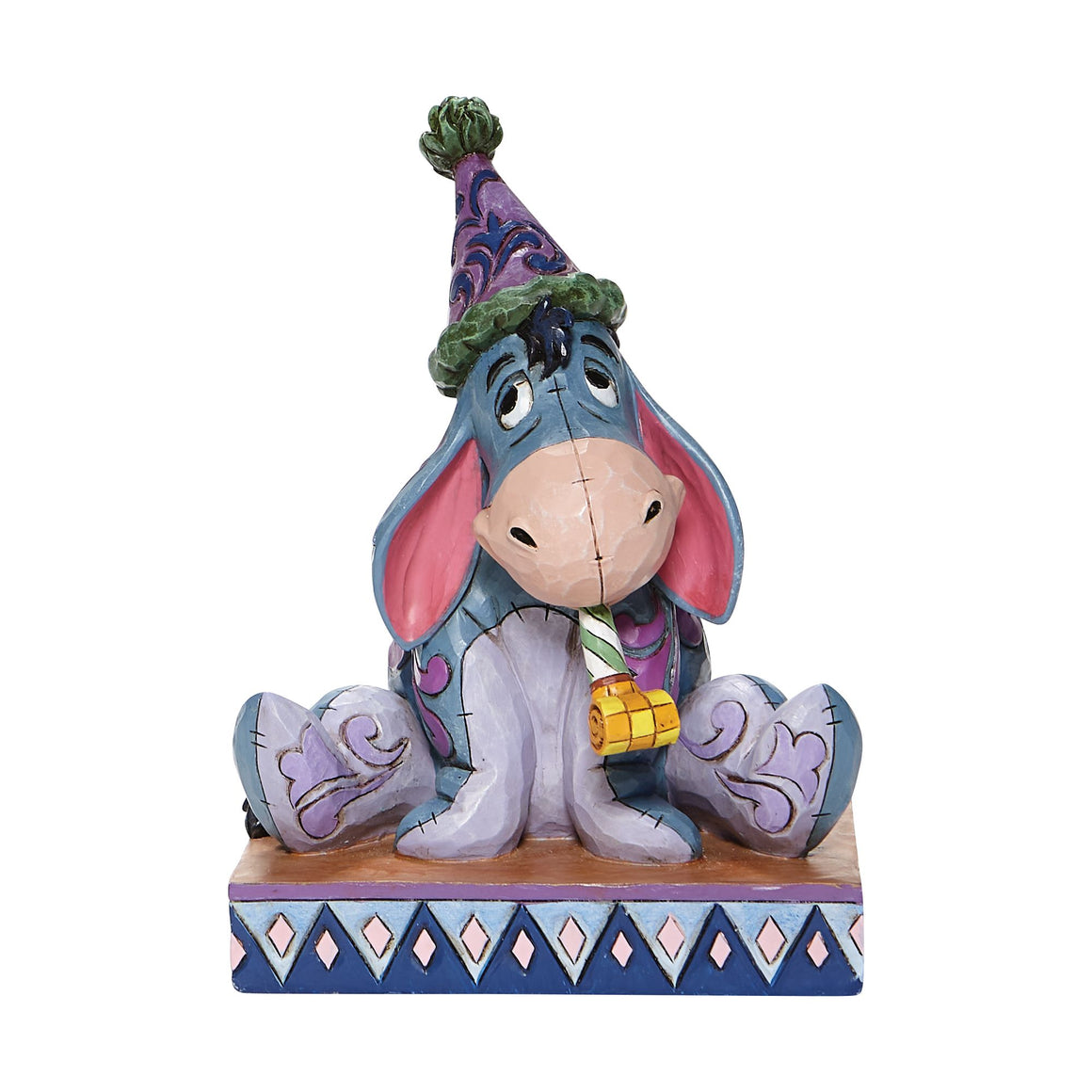 Birthday Blues - Eeyore with Birthday Hat Figurine - Disney Traditions