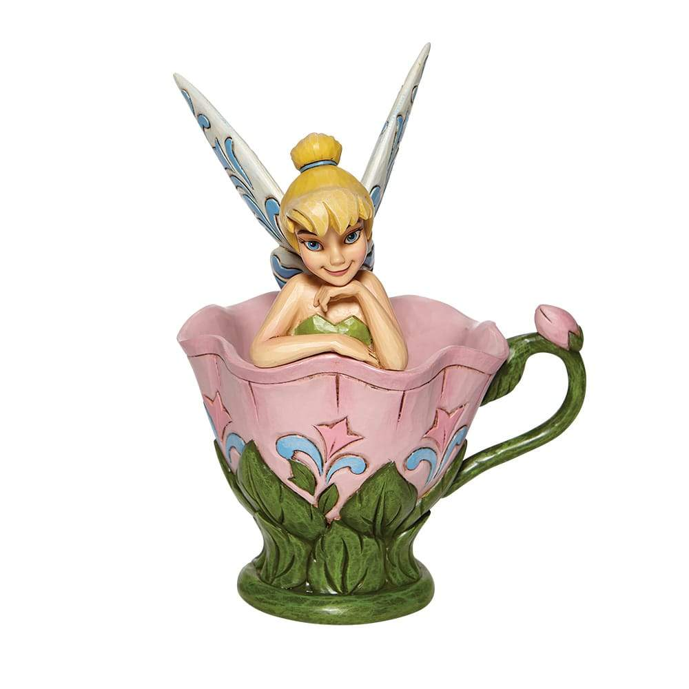 A Spot of Tink - Tinkerbell Sitting in a Flower Figurine - Disney Traditionsm Shore