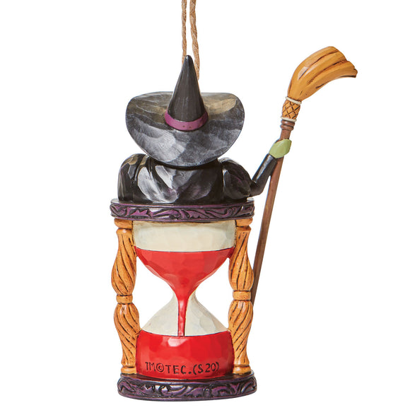 Wicked Witch with Hourglass (Hanging Ornament)