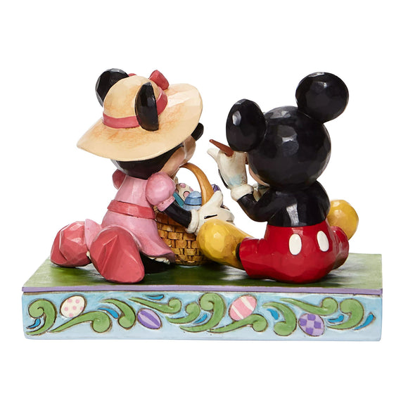Easter Artistry - Mickey and Minnie Easter Figurine - Disney Traditionsre