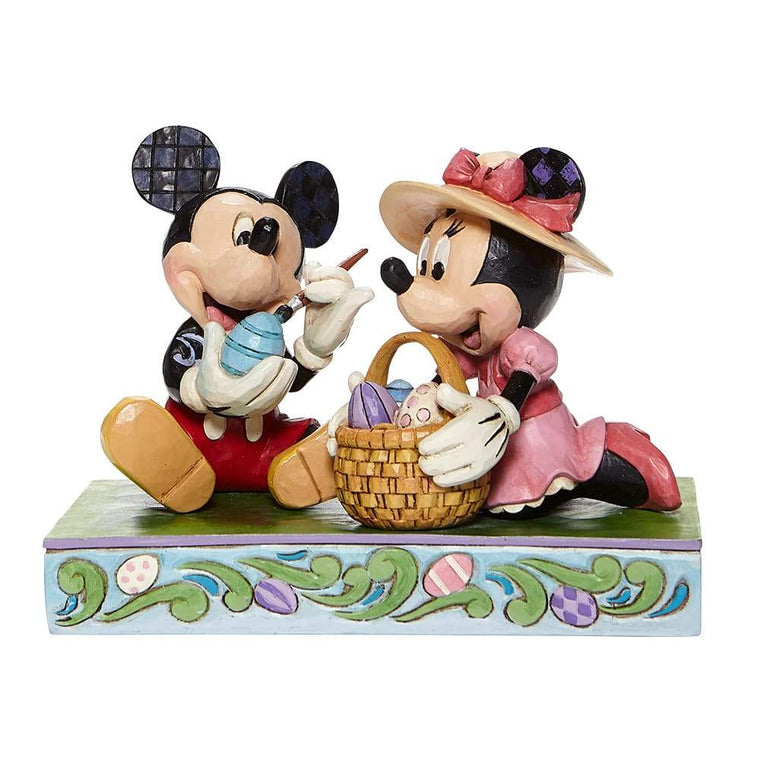 Easter Artistry - Mickey and Minnie Easter Figurine - Disney Traditions