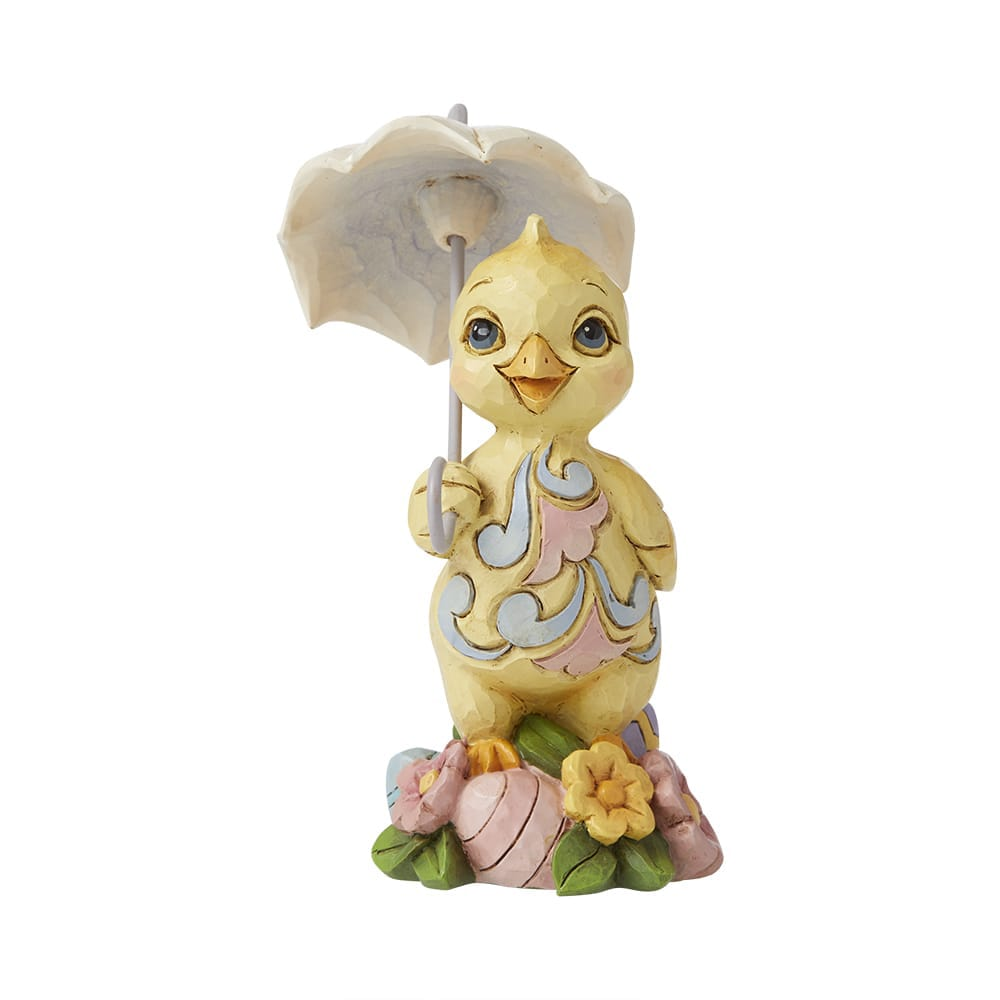 Mini Chick with Umbrella Figurine - Heartwood Creek by Jim Shore