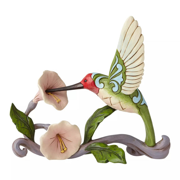 Blossoms and Beauty - Hummingburd with Flower Figurine - Heartwood Creek by JimShore