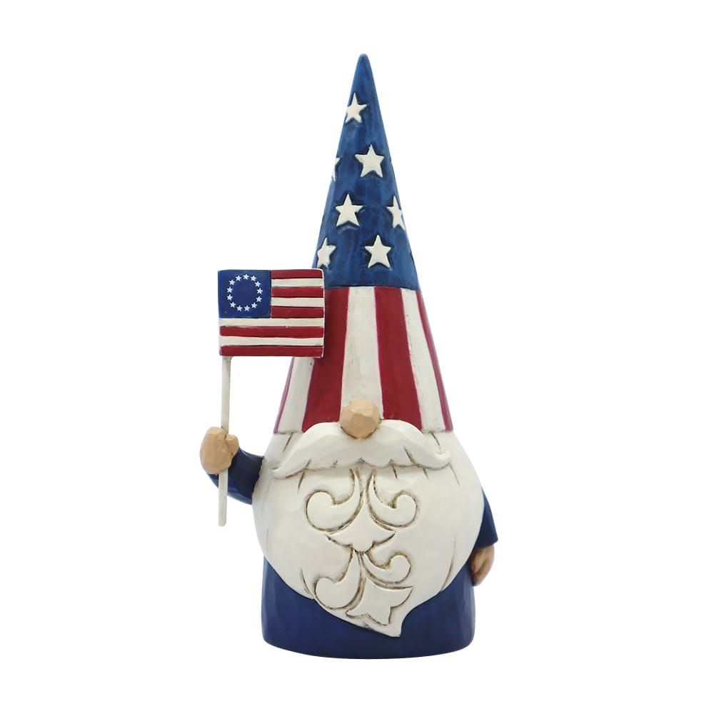 Star Spangled Gnome Figurine - American Gnome - Heartwood Creek by Jim Shore