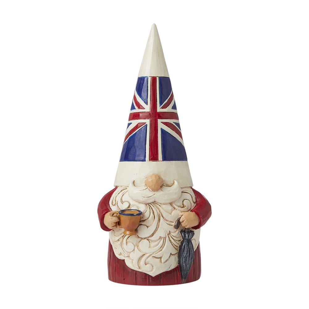 Fancy a Cuppa? - British Gnome Figurine - Heartwood Creek by Jim Shore