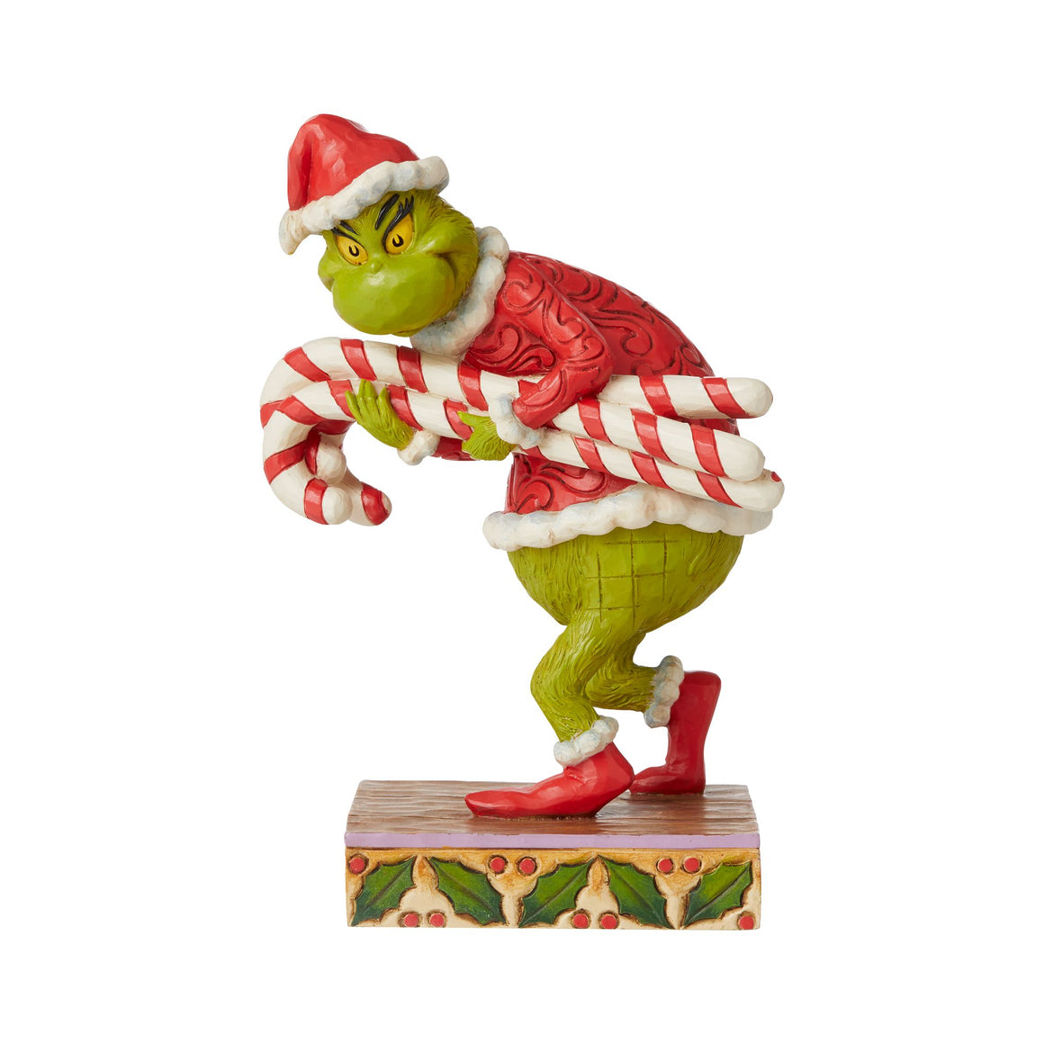 Grinch Stealing Candy Canes Figurine - The Grinch by Jim Shore