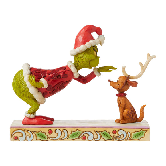 Grinch Patting Max Figurine - The Grinch by Jim Shore