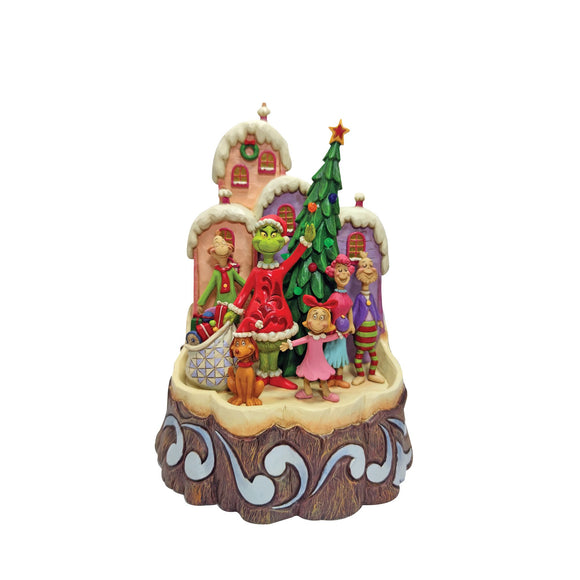 Grinch Craved by Heart Figurine - The Grinch by Jim Shore
