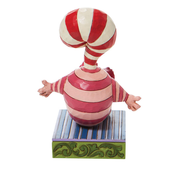 Candy Cane Cheer - Cheshire Cat Cane Tail Figurine- Disney Traditions by Jim Shore
