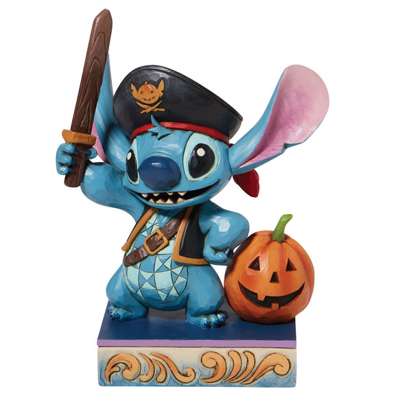 Lovable Buccaneer - Stitch as a Pirate Figurine- Disney Tradition sby Jim Shore