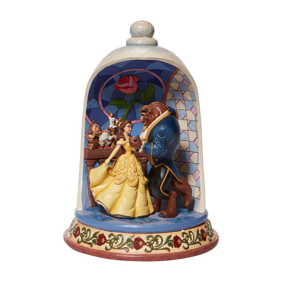 Enchanted Love - Beauty and the Beast Rose Dome Figurine- Disney Traditions by Jim Shore