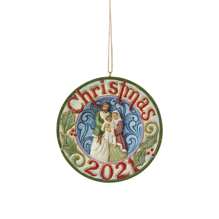 Dated 2021 Holy Family Hanging Ornament - Heartwood Creek by Jim Shore