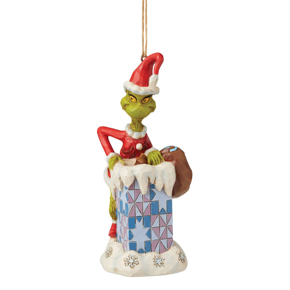 Grinch Climbing in Chimney Hanging Ornament - The Grinch by Jim Shore