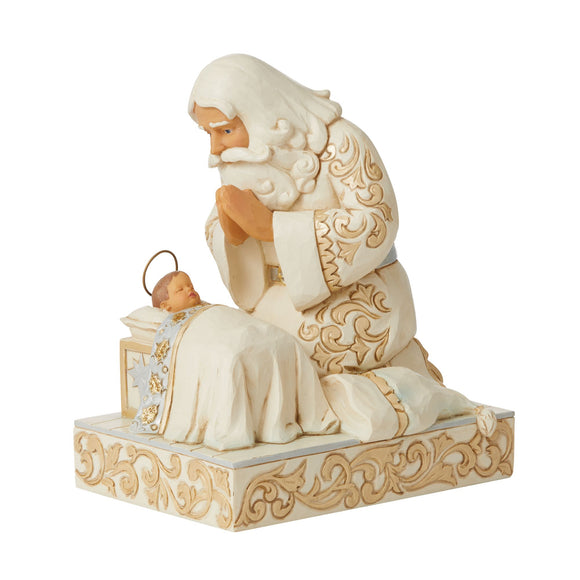 Holiday Lustre Santa with Baby Jesus - Heartwood Creek by Jim Shore