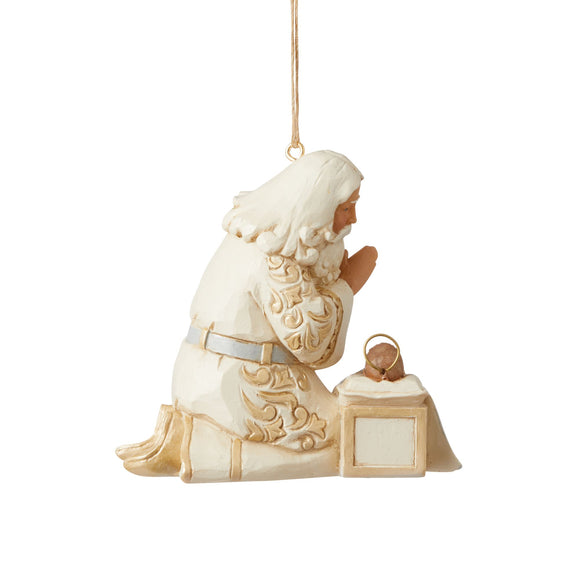 Holiday Lustre Santa with Baby Jesus Hanging Ornament - Heartwood Creek by Jim Shore