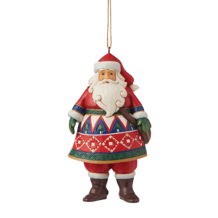 Lapland Santa Hanging Ornament - Heartwood Creek by Jim Shore