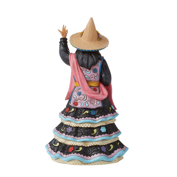 Witch Wearing Day of the Dead Dress Figurine - Heartwood Creek by Jim Shore