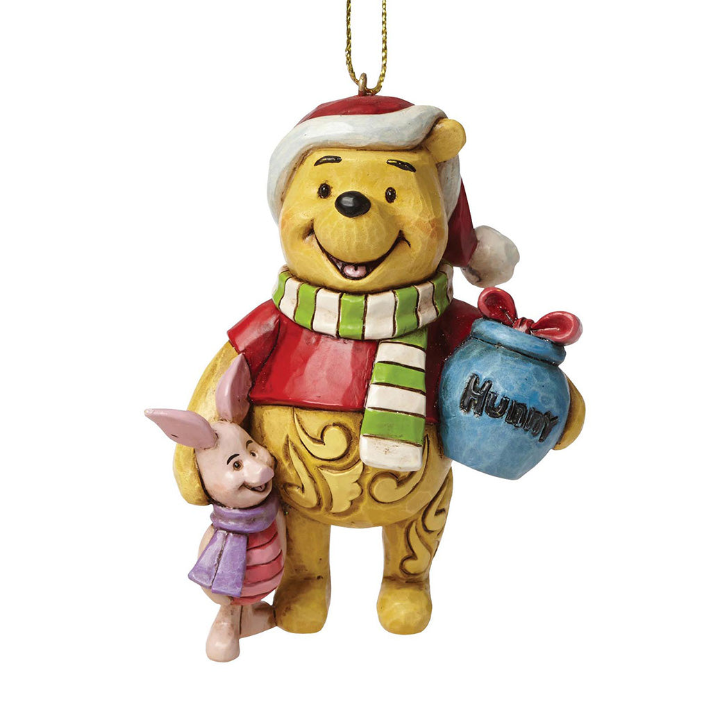 Winnie the Pooh and Piglet Hanging Ornament - Disney Traditions by Jim Shore