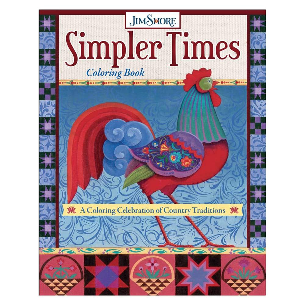 Pre-Order. Simpler Times Coloring Book: A Coloring Celebration of Country Traditions