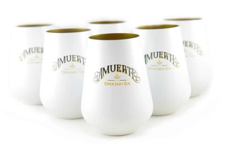 6-pack White Amuerte Glasses