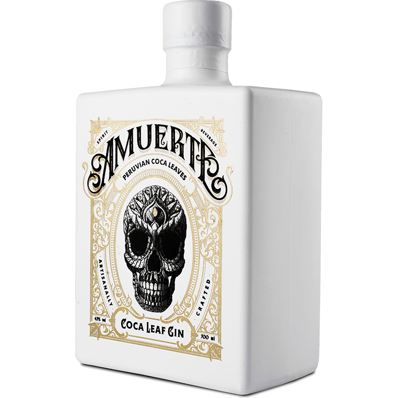 Amuerte Coca Leaf Gin White Edition Front