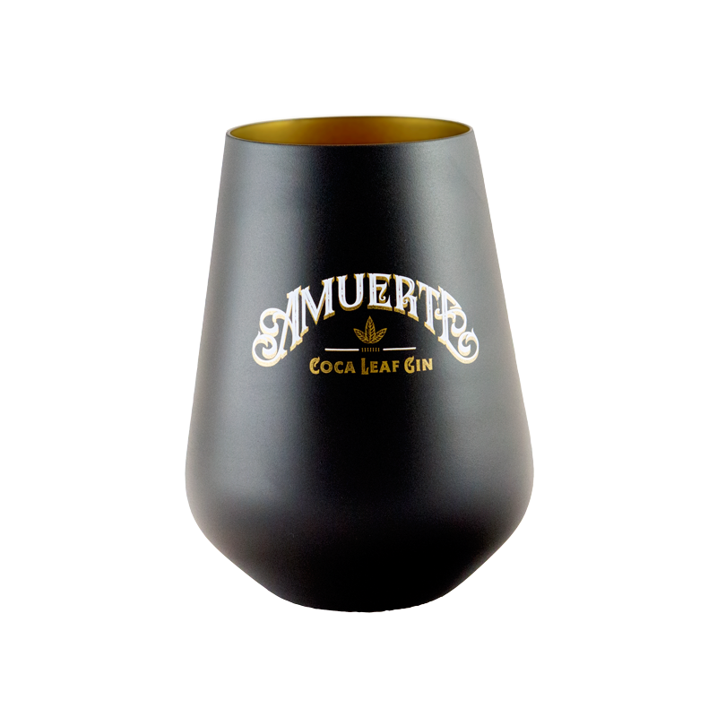 6x GLASS AMUERTE BLACK
