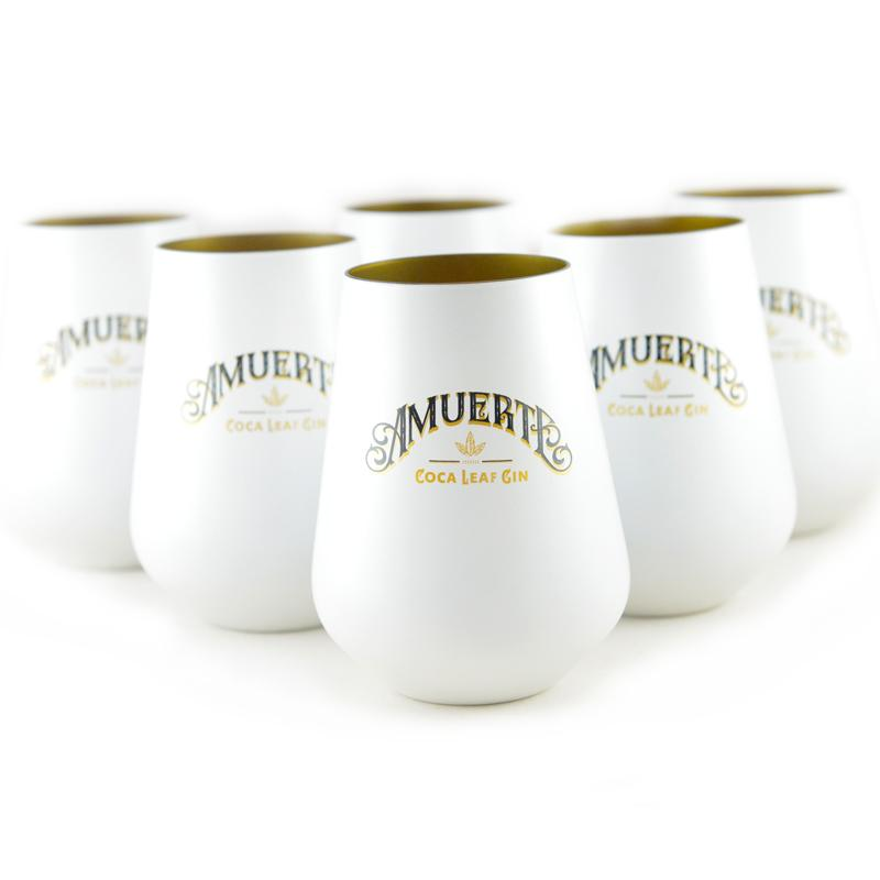 6x GLASS AMUERTE WHITE