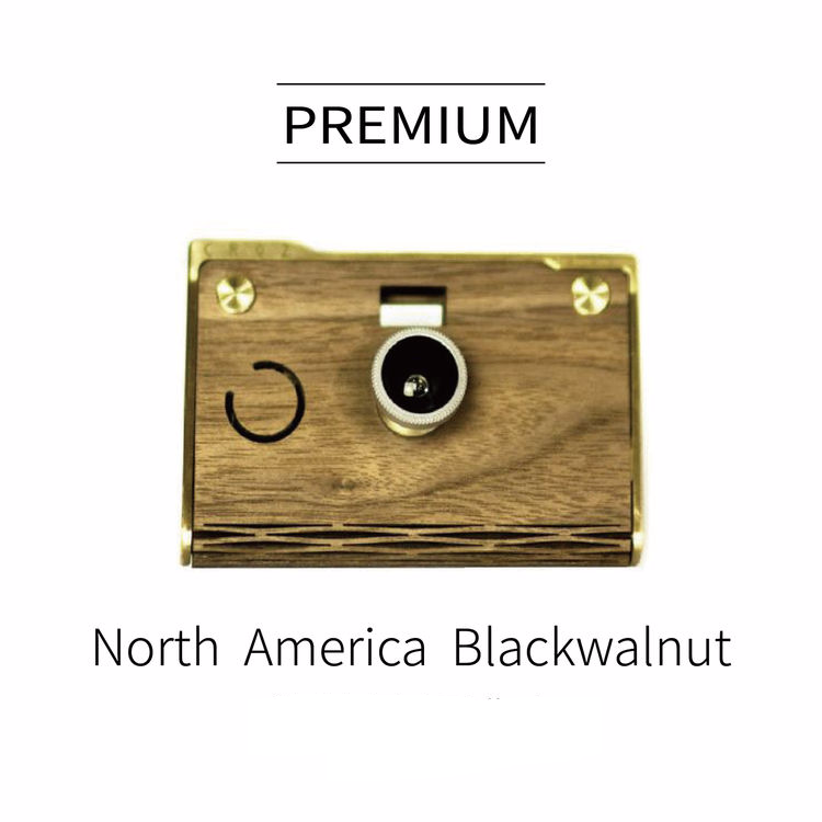 CROZ- PREMIUM CAMERA (wooden+transparent case)