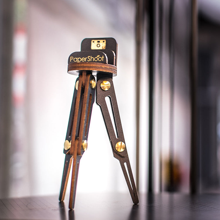 D.I.Y WOODEN TRIPOD - for camera, phone and business card