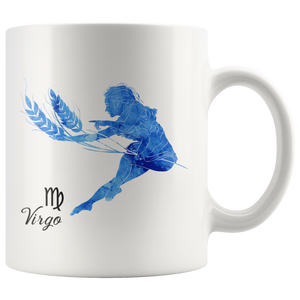 Virgo Mug - Watercolor Design