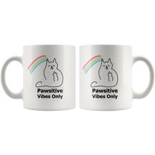 Pawsitive Vibes Only Cat Mug
