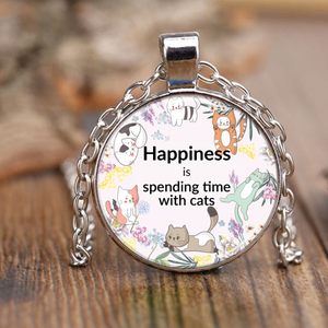 Cat Lovers Happiness Necklace