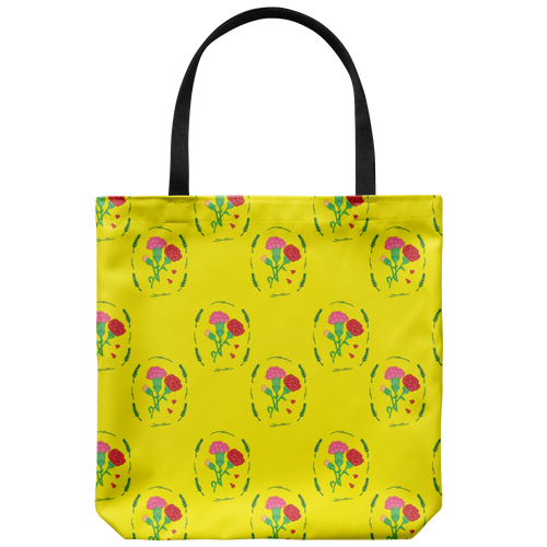 Vintage Carnation Floral Tote Bag