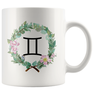 Zodiac: Gemini Mug - Wreath Design
