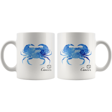 Cancer Mug (Zodiac) - Watercolor Design